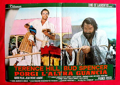 Turn The Other Cheek 1974 Bud Spencer Terence Hill Unique Book Movie Poster # 5