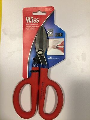 Wiss 8 1/4 inch Straight Pattern Tinner's Snip,No A12N,  Apex Tool Group Llc