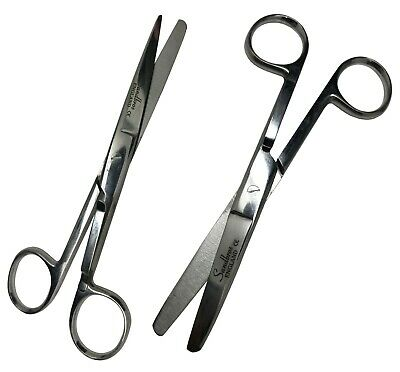 Nursing Scissors with Pocket Clip Dressing Bandage Scissors Sharp/Blunt 13CM