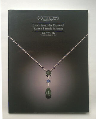 Sotheby's Jewels from the Estate of R. Baruch Samstag, New York April 11, 1995