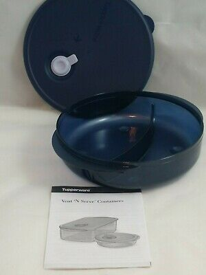 Tupperware NEW Vent n Serve Divided Dish microwave