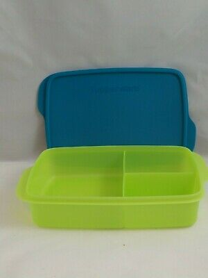 Tupperware NEW Large Lunch it, Salsa Verde/peacock