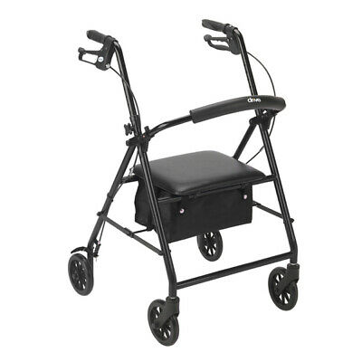 "NEW DRIVE MEDICAL 7C49zr1 1 EA Rollator with 6"" Wheels, Black R800BK"