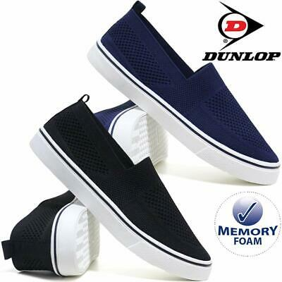 Mens Memory Foam Canvas Espadrilles Boat Deck Plimsolls Trainers Pumps Shoes