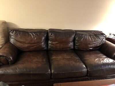 Swell Leather Sofa By Bernhardt Used 8 Ft Long In Excellent Short Links Chair Design For Home Short Linksinfo