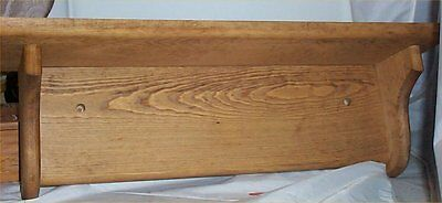 Wood Shelf Solid Pine  Kitchen Country Home Decor Handcrafted Stained Golden Oak