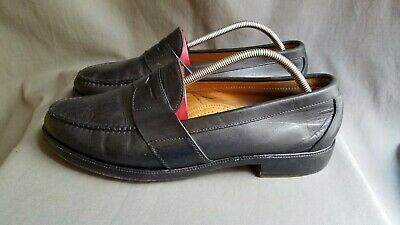 af4fbebaa30 Men s Black Leather ALDEN Cape Cod H494 Penny Moc Toe Shoes Sz-11.5 Made in