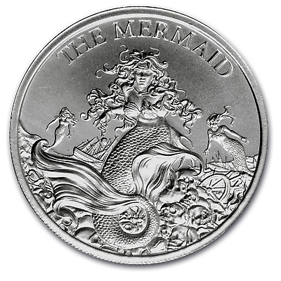2 oz Silver High Relief Round - The Mermaid - SKU#187512