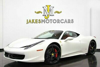 2015 Ferrari 458 Italia (1-OWNER)...WHITE ON RED 2015 FERRARI 458 ITALIA~ WHITE ON RED~ 8K MILES~ 1-OWNER SINCE NEW~CARBON INSIDE
