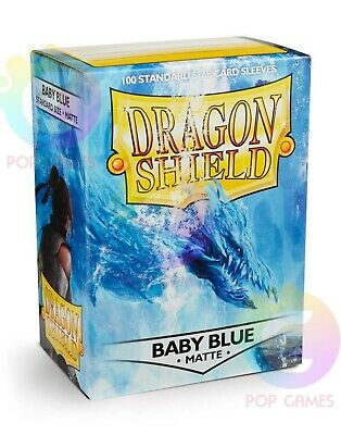 100 Bustine Protettive Baby Blue MATTE DRAGON SHIELD Standard Size Sleeves 66x88