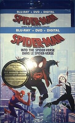 Marvel Spiderman Into The Spider-Verse Spiderverse Blu Ray + DVD Slipcover LOOK