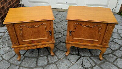 Amazing Pair French Antique Bedside Tables Cupboards Cabinets Louis XVI