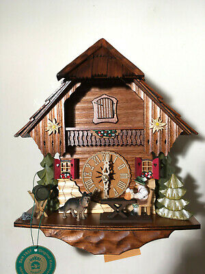 Black Forest Mechanical With Moving  Beer Brinker Cuckoo Clock, New