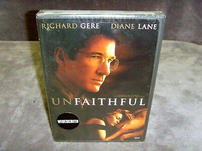 Unfaithful (DVD, 2002, Special Edition, Widescreen) New!•Richard Gere•Diane Lane