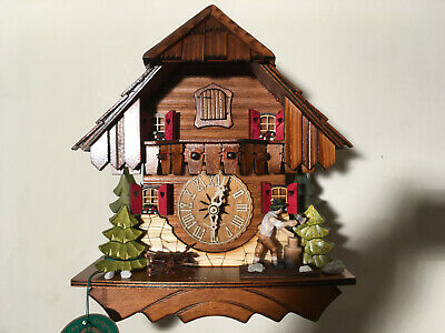 Black Forest Mechanical With Moving Wood Chopper Cuckoo Clock, New