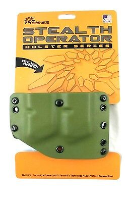 Phalanx Stealth Operator Twin Magazine Holster Green Multi Fit Secure Fit