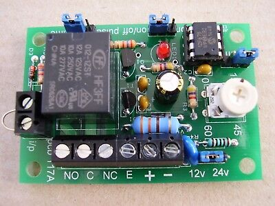 Timer / pulsing relay board , adjustable 0-60 secs or 0-60 mins