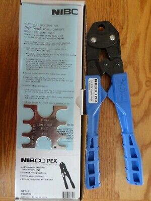 "Nibco 3/8"" PEX Crimp Tool for Copper Rings PX02529 Blue Plumbing Piping Systems"