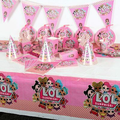 Lol Surprise Doll Cup Plate Necklace Cupcake Topper  Party Balloon Table Squishy