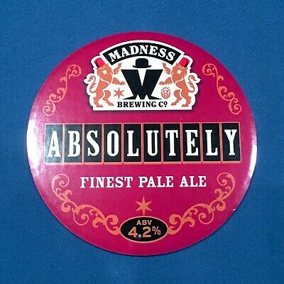 MADNESS ABSOLUTELY beer pump clip keg badge - Suggs Two Tone Ska music *MINT*