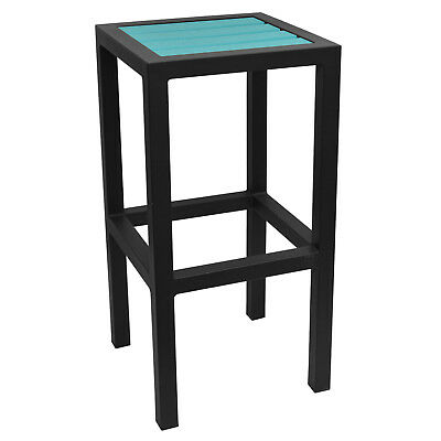 New Caribbean Collection Outdoor Backless Bar Stool