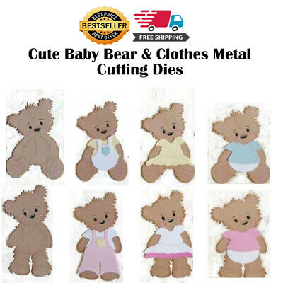 Cute Baby Bear Clothes Metal Cutting Dies Stencils for DIY Scrapbooking Paper