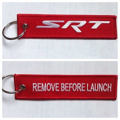 Dodge SRT Neon Hellcat  Keychain Remote Fob REMOVE BEFORE LAUNCH 2 Side Red