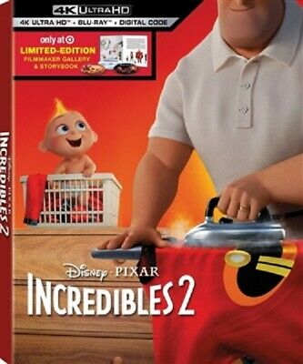 Incredibles 2 4K UHD 09/18 4K (used) Blu-ray Only Disc Please Read