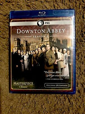 Downton Abbey: Season 2 (Blu-ray Disc, 2012, 3-Disc Set) Brand New!