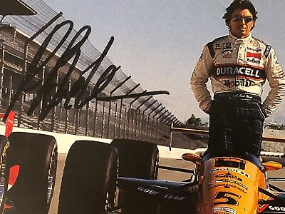 Autographed Raul Boesel CART IndyCar Racing Photograph