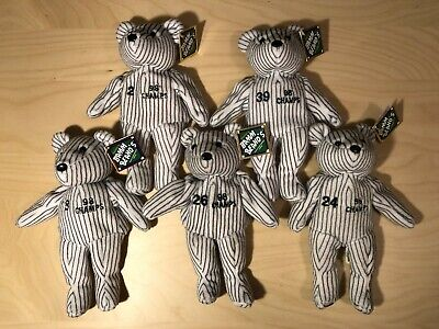 90cb50b8054 Lot of 5 NEW YORK YANKEES  98 CHAMPS SALVINO S BAMM BEANOS Plush Beanbag  Bears