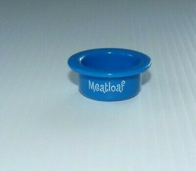 American Girl Doll Meatloaf's Food or Water Dish EUC!!  Pet Dog Bulldog