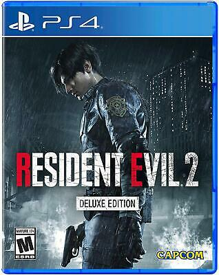 Resident Evil 2 PS4 Deluxe Edition Remake of 1998 Original with DLC Pk SOLD OUT