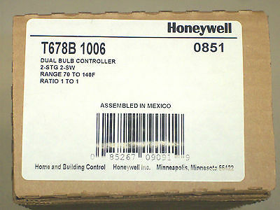 Honeywell T678B 1006 Two Stage Dual Bulb Outdoor Reset Controller, 1 to 1 Ratio