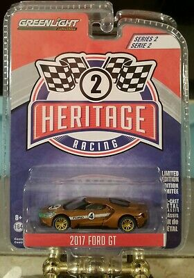 6pc Set 1//64 Diecast Model Cars by Greenlight 13200 Ford GT Racing Heritage Series 1