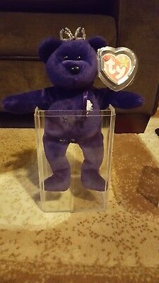 Princess Diana Beanie Baby W Crown First Edition Retired Rare Lot
