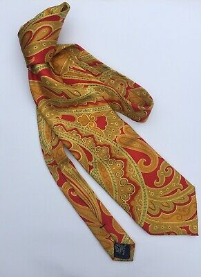 Vintage Yves Saint Laurent 100% Silk Tie Made In Italy Paisley $60 Free Post