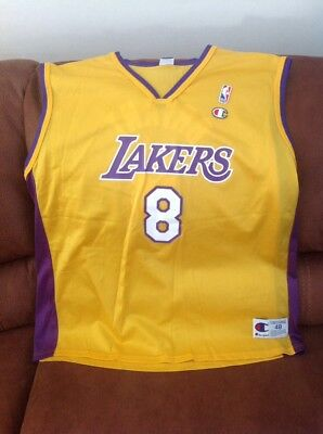2cc3159b0b0 Vintage champion kobe Bryant  8 los Angeles Lakers nba jersey size 48 XL  mens