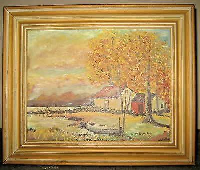 "Mid-Century 1969 Hand Painted Vintage A.G.WELSCH Repro""Falling Leaves""by Beard"
