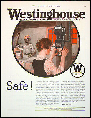 1922 westinghouse safety switches old electric fuse boxes vtg print ad