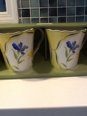 222French Garden 4 New In Box Coffee Mugs