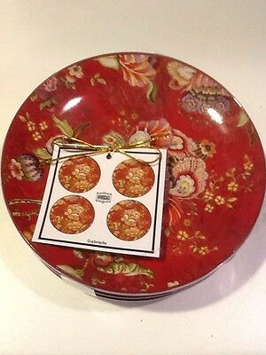 222Fifth Gabrielle Red 4 New Appetizer Plates