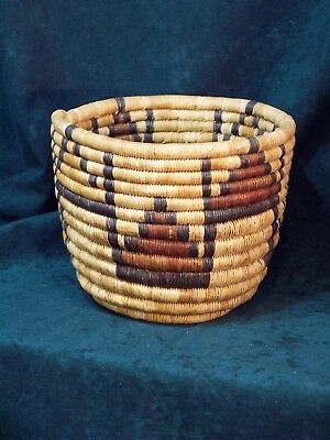 Hopi Polychrome Woven Basket - Vintage & Beautiful!