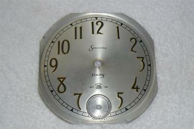 Sessions Self Starting Westminster Chime Mantle Clock Silvered Dial Pan Seconds