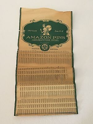 Amazon Sewing Book Adamantine Steel Sewing Pins Scovill Manufacturing Co. 1920's