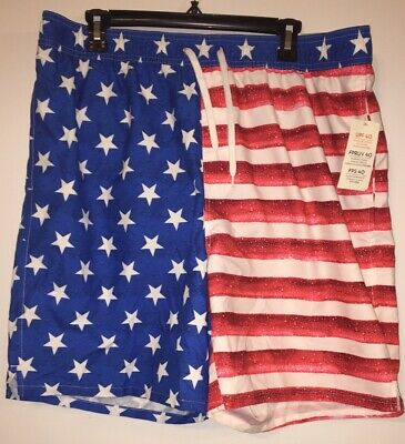 9bfd7fb13a OLD NAVY Mens American Flag Swim Trunks Board Shorts Size Extra Large Xl