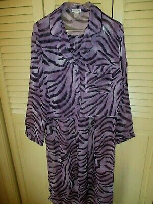 HTF PLAYBOY Intimate Sleepwear 2 PC PAJAMA SET Purple/Black Sz M BUNNY LOGO NWOT