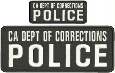 DOC COMMUNITY CORRECTIONS OFFICER EMBROIDERY PATCHES 4X10 /&2X5  hook on back