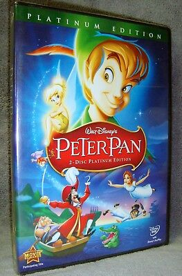 Disney•Peter Pan (DVD, 2007, 2-Disc, Platinum Edition) New!•Sealed!•USA•In Vault