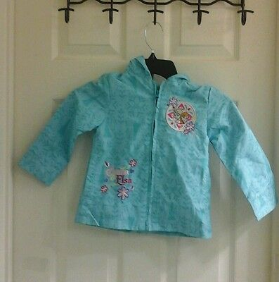 Disney's Frozen character light weight turquoise jacket,  toddler girls size 2T